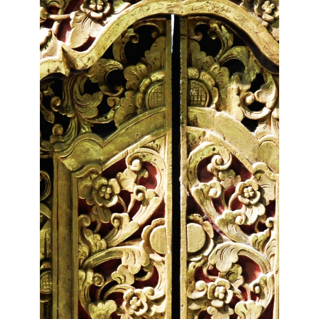 Old Carved Gilt Wood Wall Hanging Window | Chairish