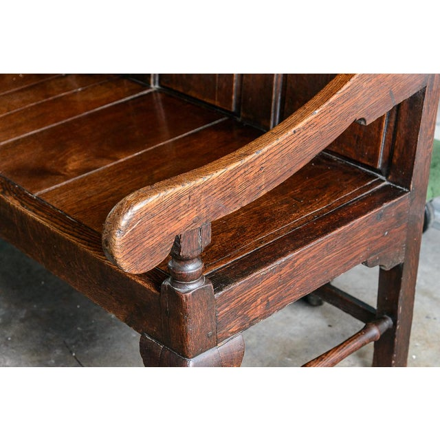 English Traditional 19th Century Settee For Sale - Image 3 of 6