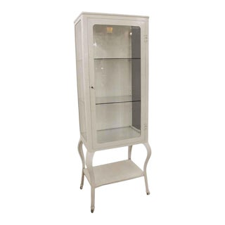 Antique White Medical Cabinet For Sale