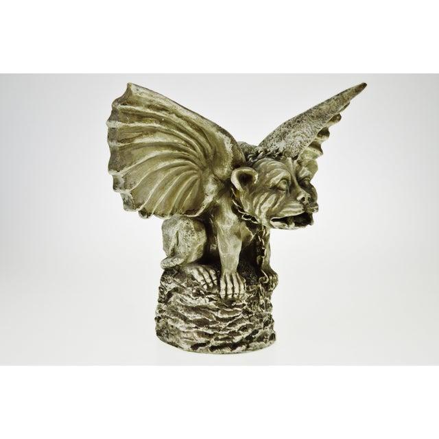 Vintage Gothic Grotesque Gargoyle Winged Dog Statue - Image 4 of 11