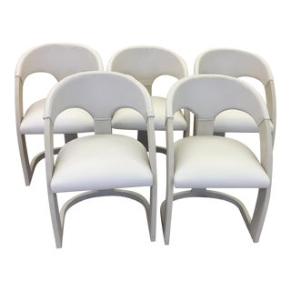 Emporium Home Shagreen and Leather Dining Chairs - Set of 6