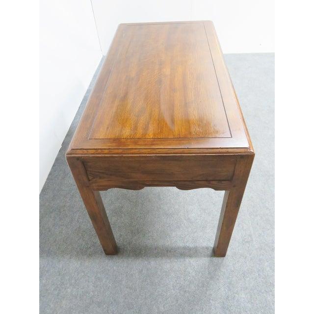 French Country Henredon Oak Desk For Sale In Philadelphia - Image 6 of 9