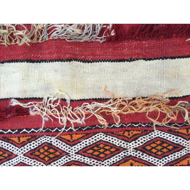"""Red Tribal Moroccan Wedding Rug - 5'7"""" X 8'2"""" For Sale - Image 8 of 8"""