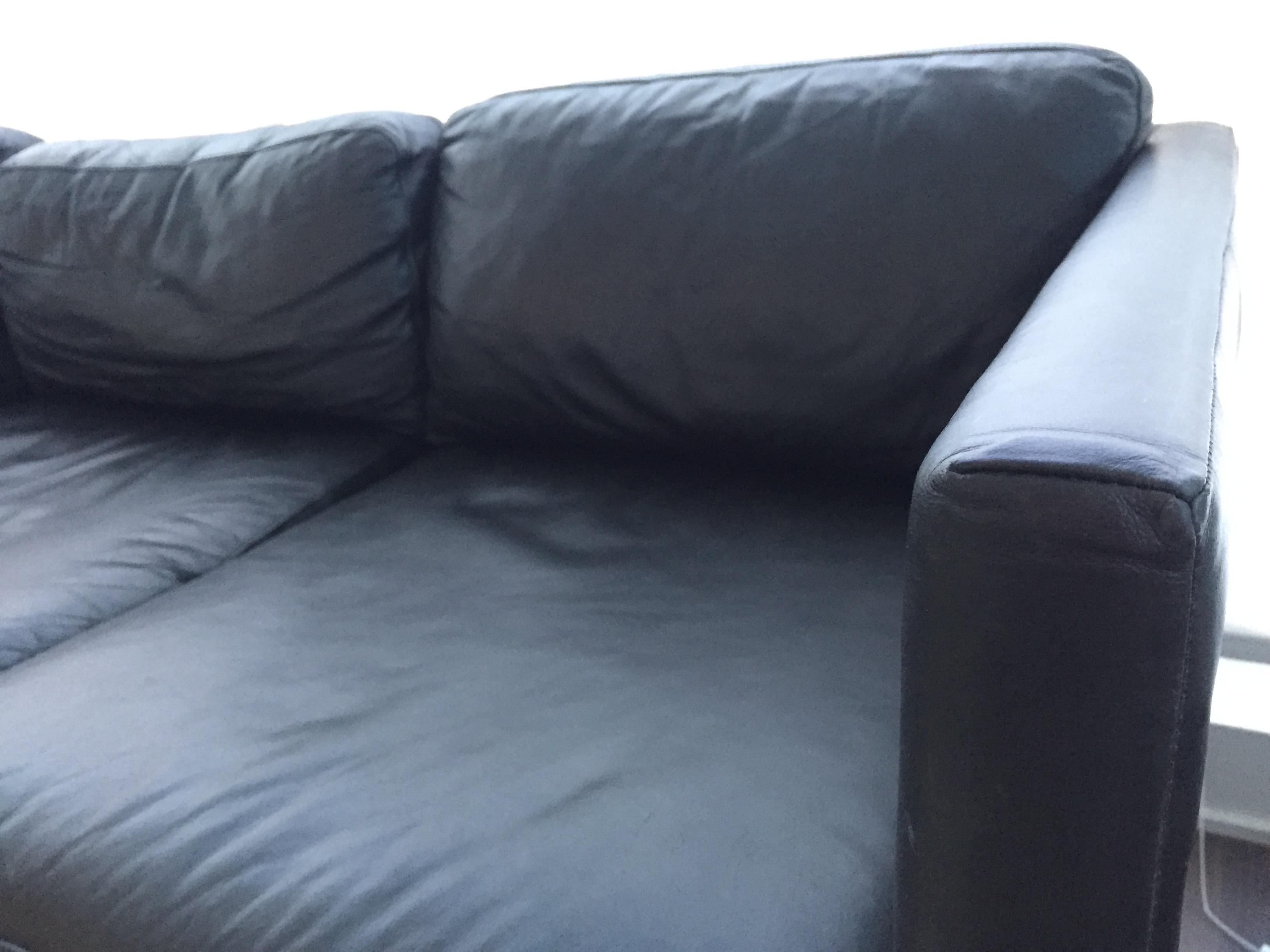 West Elm Brooklyn Leather Sofa   Image 7 Of 9