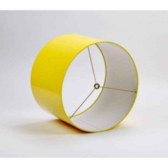 Not Yet Made - Made To Order High Gloss Yellow Drum Lamp Shade For Sale - Image 5 of 7