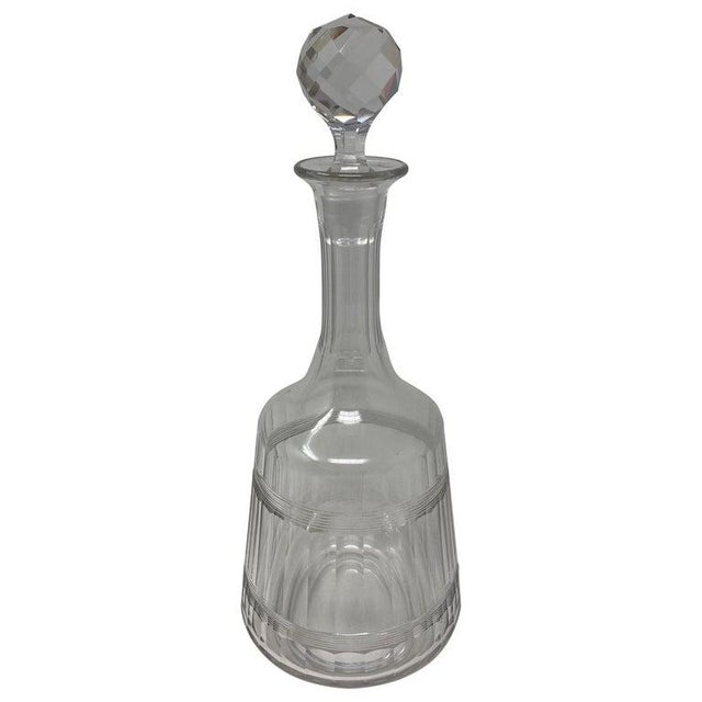Antique Baccarat Crystal Decanter With Stopper For Sale In Houston - Image 6 of 6