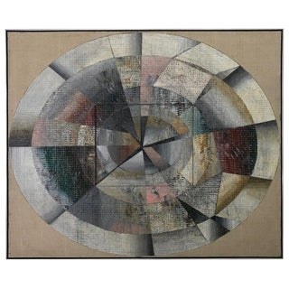 "Abstract Oil on Canvas Painting ""Mycenae Viii"" by Edward Giobbi 1978 For Sale"