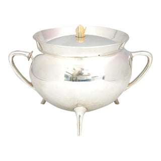 Mid Century Walker & Hall Silver Soup Tureen For Sale