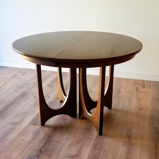1960s Broyhill Brasilia Round Dining Table For Sale - Image 13 of 13