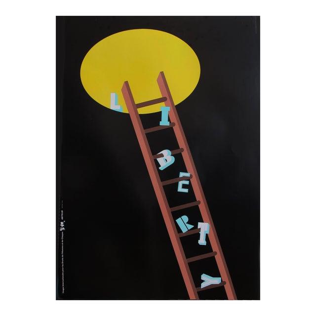 1989 Original Poster for Artis 89's Images Internationales Pour Les Droits De l'Homme Et Du Citoyen - Liberty For Sale