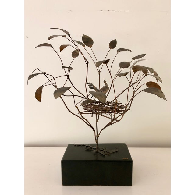 Metal 1968 Curtis Jere Birds in Tree Nest Sculpture For Sale - Image 7 of 7