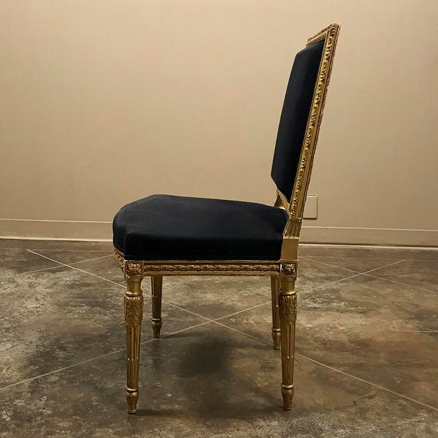 19th Century French Louis XVI Giltwood Chairs - a Pair For Sale In Baton Rouge - Image 6 of 13