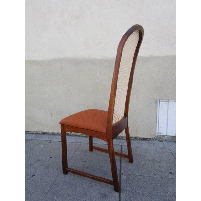 Caned Back Dining Chairs by Milo Baughman - Set of 6 For Sale - Image 5 of 7