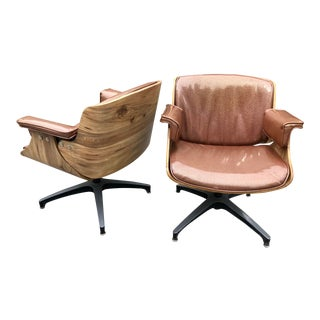 1960s Mid-Century Modern Eames Style Club Chairs - a Pair For Sale