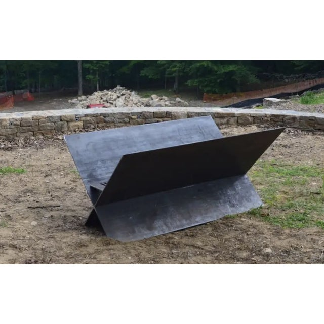 Contemporary Contemporary Minimalist Steel Patio or Garden Fire Pit by Scott Gordon For Sale - Image 3 of 6