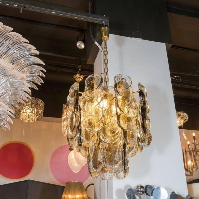 1960s Murano Glass Chandelier Designed by J.T. Kalmar of Austria, Fabricated by Seguso For Sale - Image 5 of 9