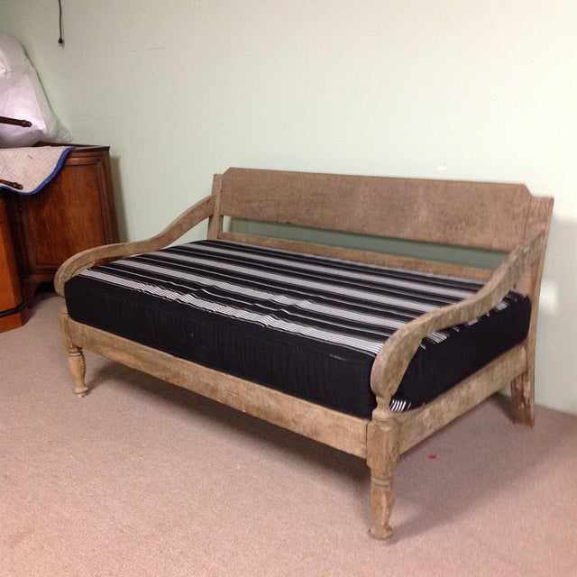 Vintage Rustic Teak Wood Colonial Style Daybed This Gorgeous Is Great Indoors Or