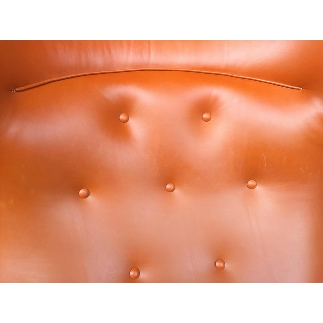 1940s Leather Wingback Armchair Attributed to Frits Henningsen For Sale In New York - Image 6 of 12