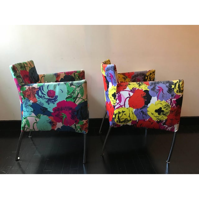 Modern Pair of Chairs From the Versace Showroom, 1990s For Sale - Image 3 of 9
