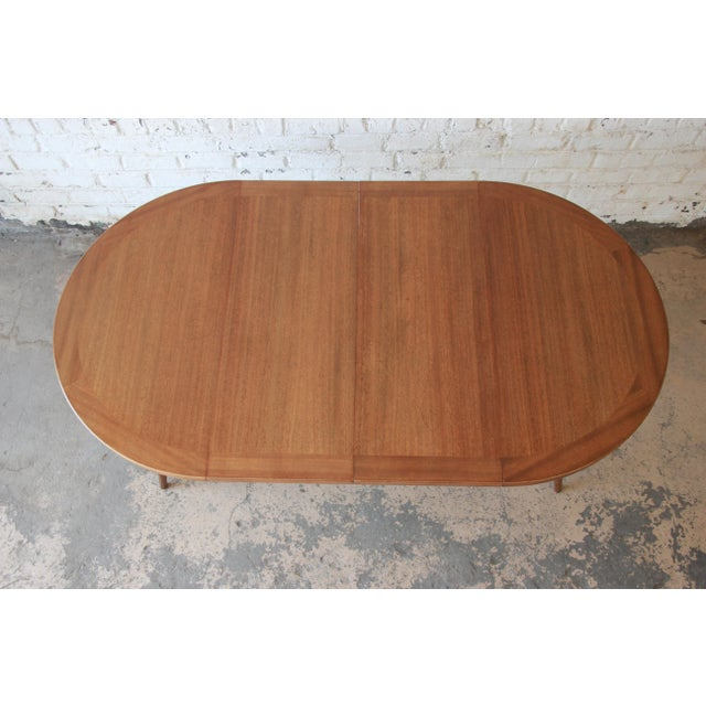 Harvey Probber Mid-Century Modern Mahogany Saber Leg Extension Dining Table For Sale - Image 5 of 12
