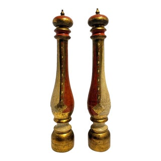 Vintage Florentine Salt Pepper Mills - a Pair For Sale