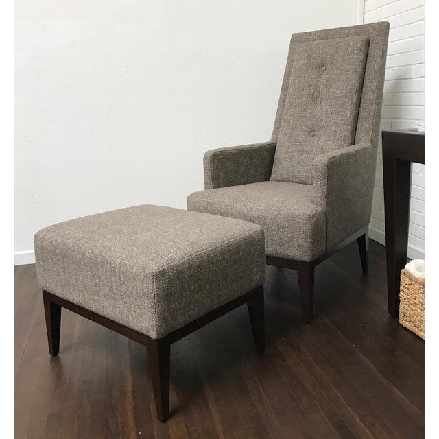 Rjones Cecil Lounge Chair And Ottoman Chairish