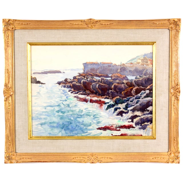 Monory The Coast of France Painting - Image 1 of 5