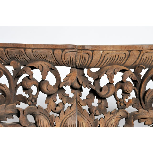 Mid 20th Century Vintage Burmese Hand-Carved Arch For Sale - Image 5 of 13