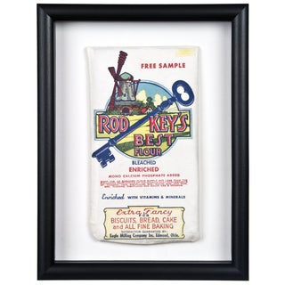 Framed Rod Keys Linen Flour Sack