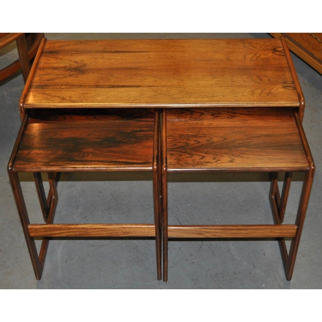 Vintage Rosewood Nesting Coffee Tables C.1960's - Image 4 of 4
