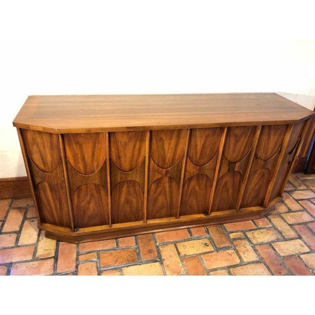 Brutalist Mid-Century Modern Brutalist Credenza Kent Coffey Style For Sale - Image 3 of 13
