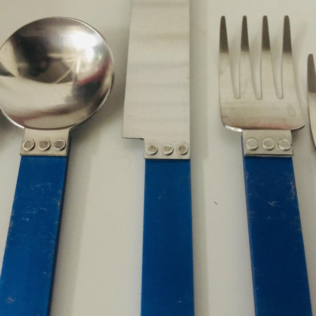 """1980s 1980s 5 Piece Metal """"electra"""" Flatware by David Tisdale for Sasaki For Sale - Image 5 of 11"""