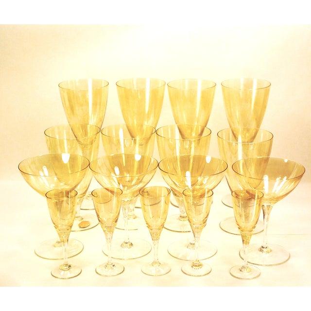 Bohemia Crystal Glassware Gold Iridescent - S/17 - Image 2 of 9