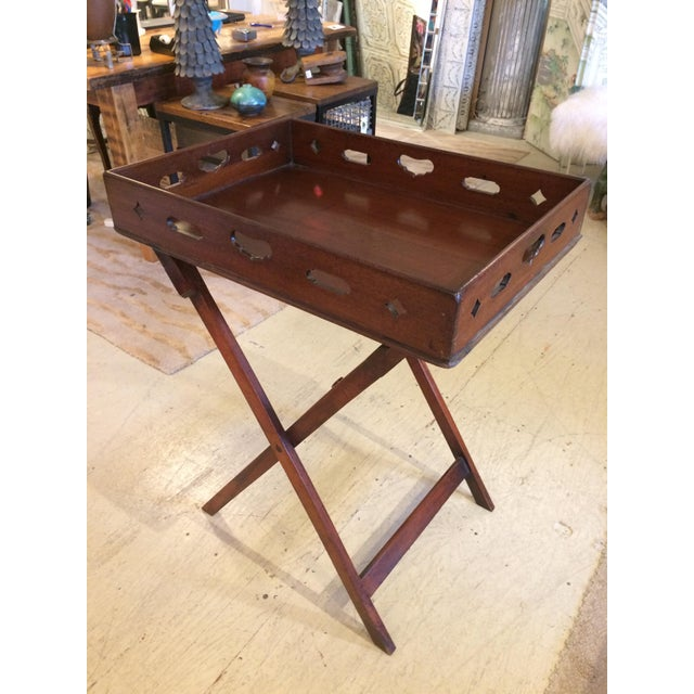 English Traditional Mahogany Butler's Tray Table For Sale - Image 11 of 11