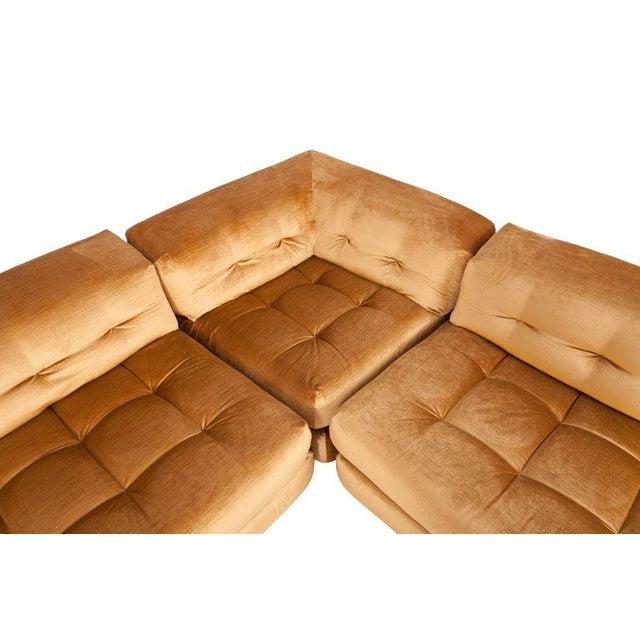 Mah Jong First Edition Modular Sofa in Gold Velvet by Roche Bobois For Sale - Image 6 of 13