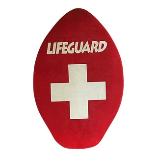 1950s Vintage Lifeguard Paddle Board For Sale