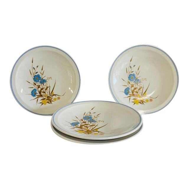 Vintage 1980s Ming Pao Mip2 Floral Design Dessert Plates - Set of 4 For Sale