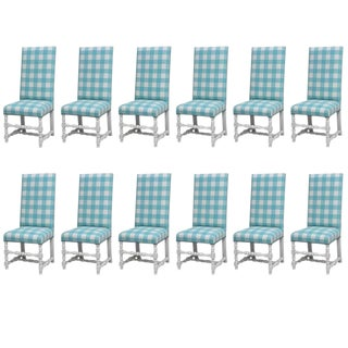Set of 12 'Diamond & Baratta' Louis XIII Style Chairs For Sale