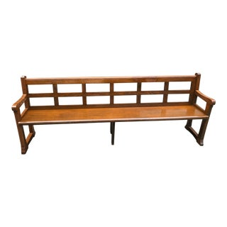 Mid-20th Century Regency Wood Church Pew