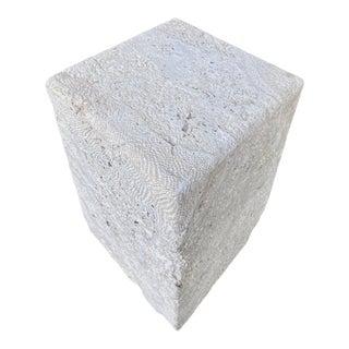 Coastal Monumental Coquina Stone Table Pedestal For Sale