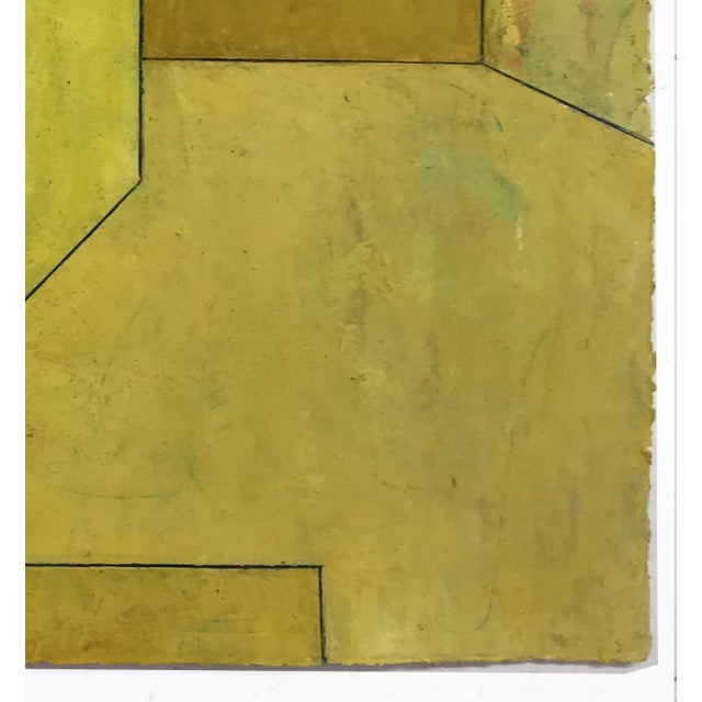 """Mid-Century Modern """"Olive Tree"""" Geometric Abstract Painting on Paper by Stephen Cimini For Sale - Image 3 of 6"""