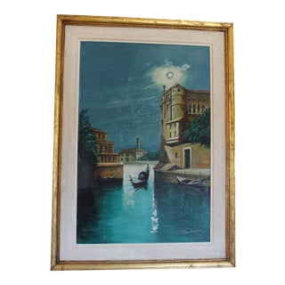 Collini Untitled Venice Nightscape Painting
