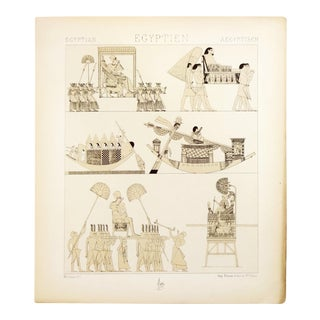 "Antique 1888 French ""Egyptien"" Lithograph by A. Racine For Sale"
