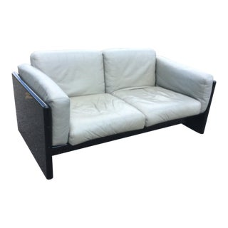 Gavina Studio Simon Italian Leather Settee For Sale