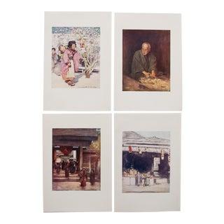 Japan by Mortimer Menpes, Original Lithographs - Set of 4 For Sale