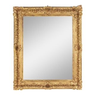 19th C. Ornate Louis XV Style Gilt Mirror For Sale