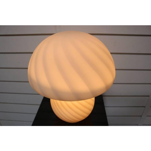 Murano Glass Mushroom Lamp - Image 7 of 7