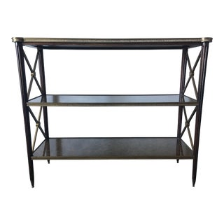 Eglomise Three Tier Console Table by Theodore Alexander For Sale