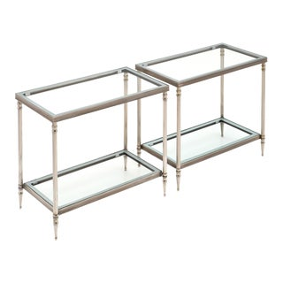 French Baguès Style Silver Plated Tables-A Pair For Sale