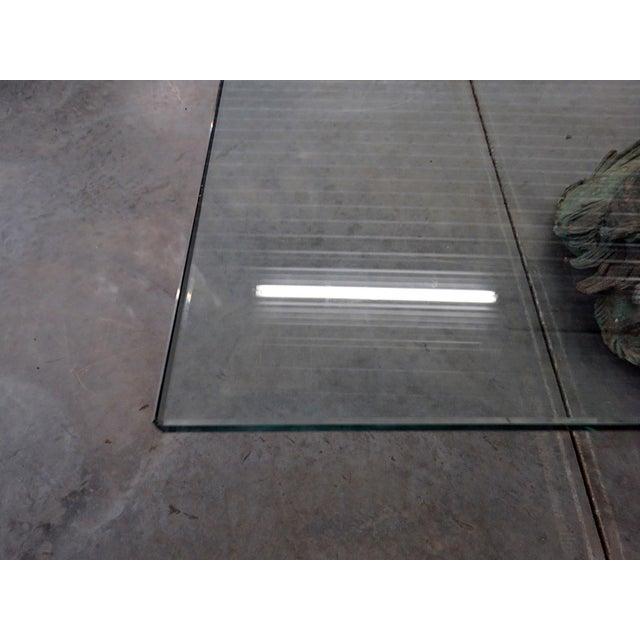 Metal Bronze Putti DI Mare Glass Top Coffee Table For Sale - Image 7 of 8